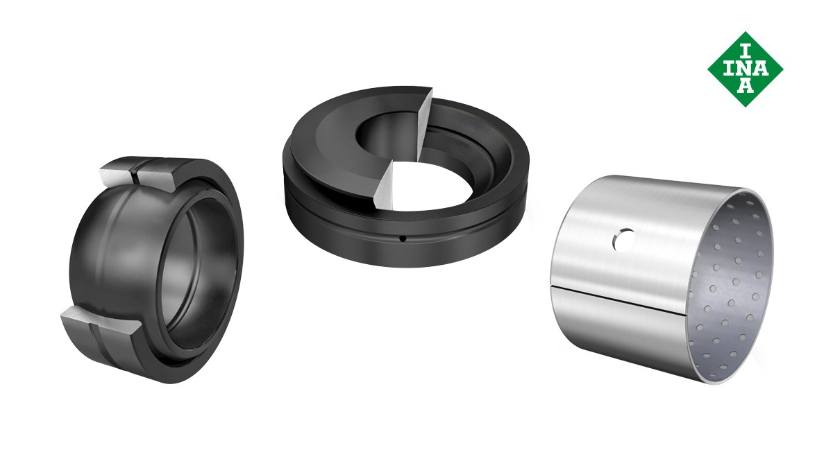 Schaeffler rolling bearings and plain bearings: Plain bearings requiring maintenance
